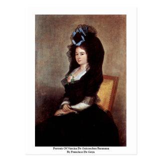 Retrato de Narcisa De Goicoechea Baranana Cartão Postal