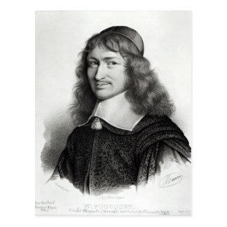 Retrato de Nicolas Fouquet gravado por Maurin Cartão Postal