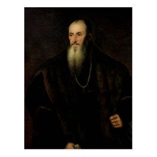 Retrato de Nicolas Perrenot de Granvelle, 1548 Cartão Postal