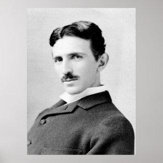 Retrato de Nikola Tesla Poster