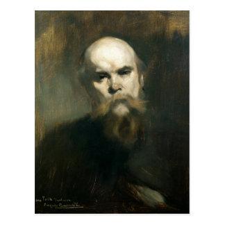 Retrato de Paul Verlaine 1890 Cartão Postal