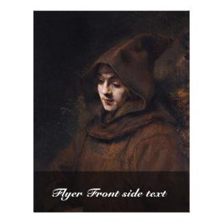 Retrato de Titus na roupa das monges, por Rembrand Modelos De Panfleto