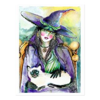 Retrato de um CARTÃO da bruxa