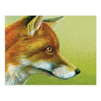 Retrato de um cartão das belas artes da raposa
