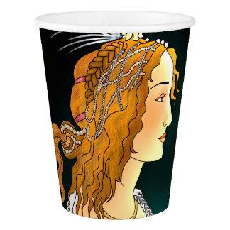 Retrato de um copo da mulher