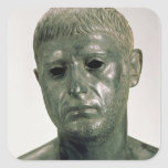 Retrato de um guerreiro romano desconhecido, adesivo em forma quadrada