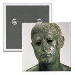 Retrato de um guerreiro romano desconhecido, ANÚNC Bóton Quadrado 5.08cm