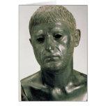 Retrato de um guerreiro romano desconhecido, ANÚNC Cartão Comemorativo