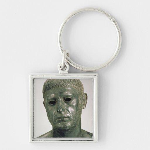 Retrato de um guerreiro romano desconhecido, ANÚNC Chaveiro Quadrado Na Cor Prata