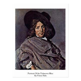 Retrato de um homem desconhecido. Por Frans Hals Cartoes Postais