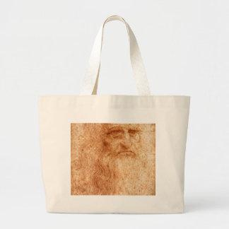 Retrato de um homem farpado bolsa de lona