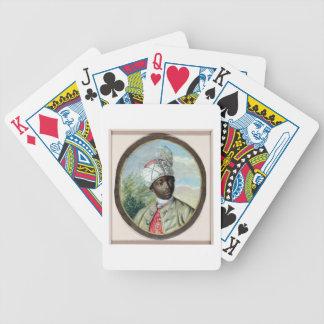Retrato de um homem novo (w/c e bodycolour no vel baralhos de cartas