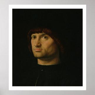 Retrato de um homem, ou o Condottiere, 1475 (óleo  Poster