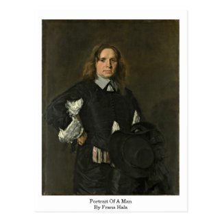 Retrato de um homem. Por Frans Hals Cartão Postal