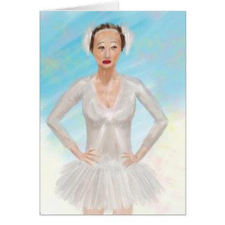 Retrato de uma bailarina de Prima - pintura Cartão Comemorativo