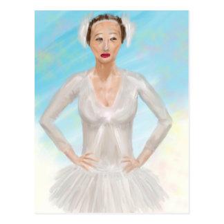 Retrato de uma bailarina de Prima - pintura Cartao Postal