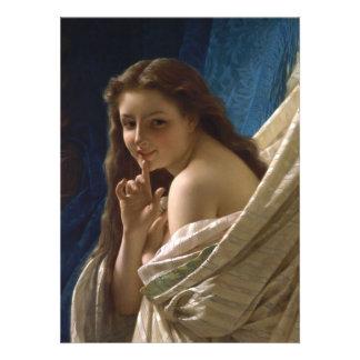 Retrato de uma jovem mulher pelo berço de Pierre A Convite Personalizado