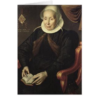 Retrato de uma mulher idosa, 1603 cartao