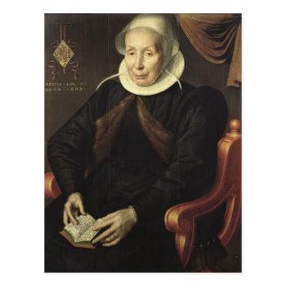 Retrato de uma mulher idosa, 1603 cartão postal