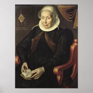 Retrato de uma mulher idosa, 1603 poster