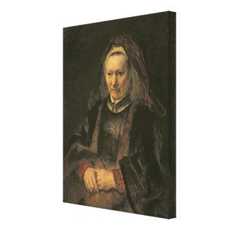 Retrato de uma mulher idosa, C. 1650 Impressão Em Tela Canvas