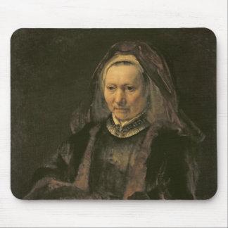 Retrato de uma mulher idosa, C. 1650 Mouse Pads