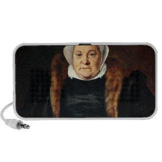 Retrato de uma mulher idosa caixinhas de som portátil