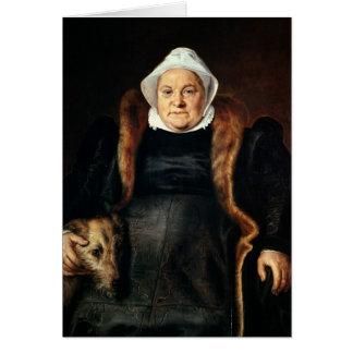 Retrato de uma mulher idosa cartão