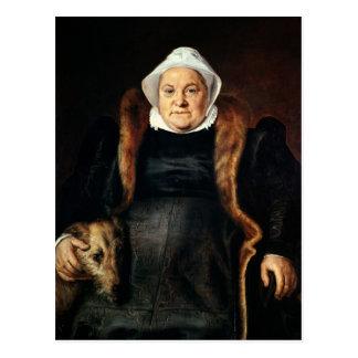Retrato de uma mulher idosa cartão postal