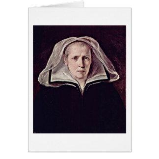 Retrato de uma mulher idosa por Guido Reni Cartoes