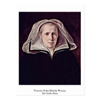 Retrato de uma mulher idosa por Guido Reni Cartoes Postais