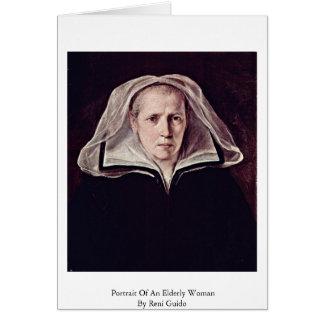 Retrato de uma mulher idosa por Reni Guido Cartoes