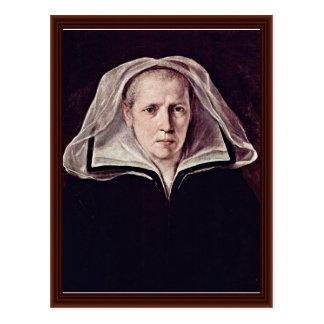 Retrato de uma mulher idosa por Reni Guido Cartoes Postais