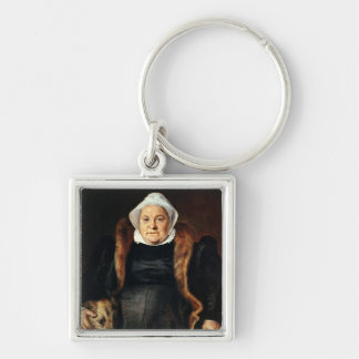 Retrato de uma mulher idosa chaveiro