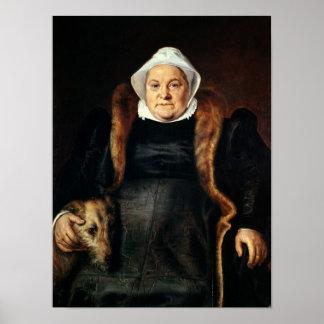 Retrato de uma mulher idosa poster