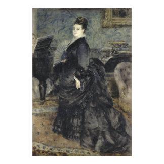 Retrato de uma mulher por Pierre-Auguste Renoir Impressão De Foto