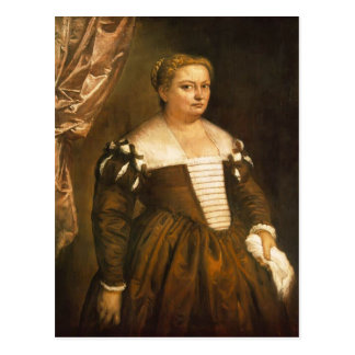 Retrato de uma mulher Venetian por Paolo Veronese Cartao Postal