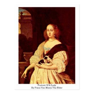 Retrato de uma pessoa idosa da senhora Frans Van M Cartões Postais
