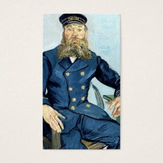 Retrato de Van Gogh   do carteiro Joseph Roulin Cartão De Visitas