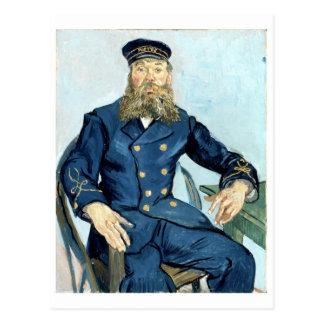 Retrato de Van Gogh   do carteiro Joseph Roulin Cartão Postal