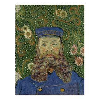 Retrato de Van Gogh   do carteiro Joseph Roulin II Cartão Postal