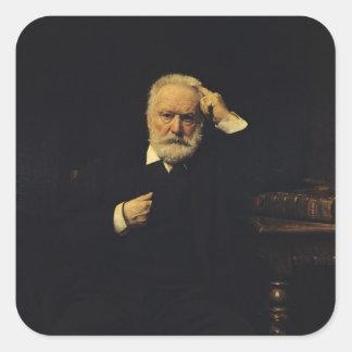 Retrato de Victor Hugo 1879 Adesivo Quadrado