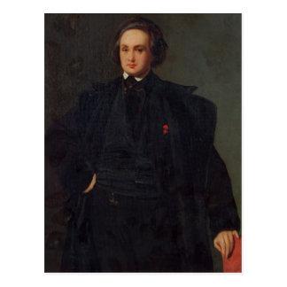Retrato de Victor Hugo, c.1833 Cartão Postal