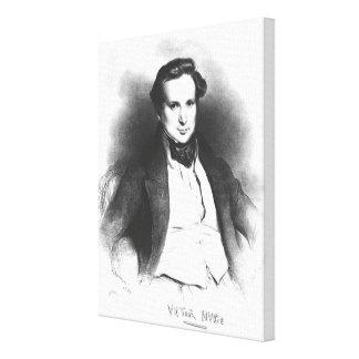 Retrato de Victor Hugo Impressão De Canvas Esticadas