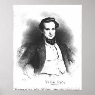 Retrato de Victor Hugo Pôsteres