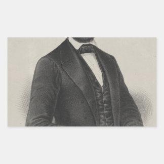 [Retrato de Wagner & de guincho de Lincoln.] c1860 Adesivos Retangular