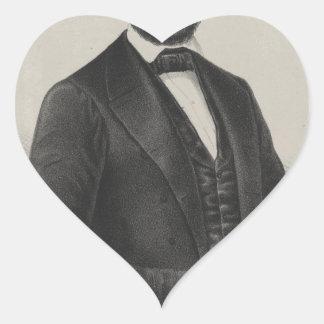 [Retrato de Wagner & de guincho de Lincoln.] c1860 Adesivos De Corações