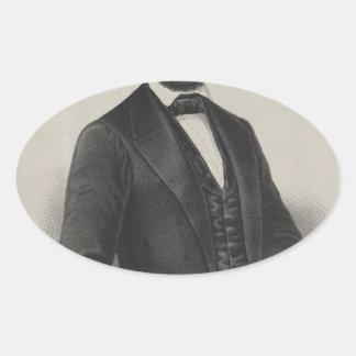 [Retrato de Wagner & de guincho de Lincoln.] c1860 Adesivos Em Formato Ovais