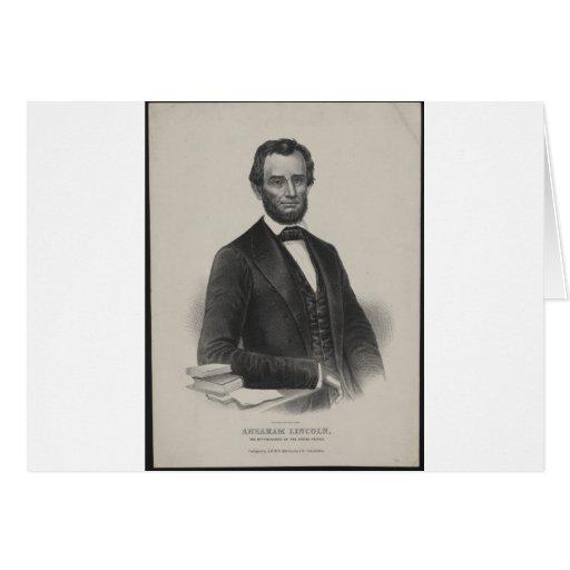 [Retrato de Wagner & de guincho de Lincoln.] c1860 Cartao