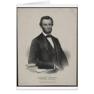 [Retrato de Wagner & de guincho de Lincoln.] c1860 Cartões